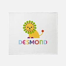 Desmond Loves Lions Throw Blanket