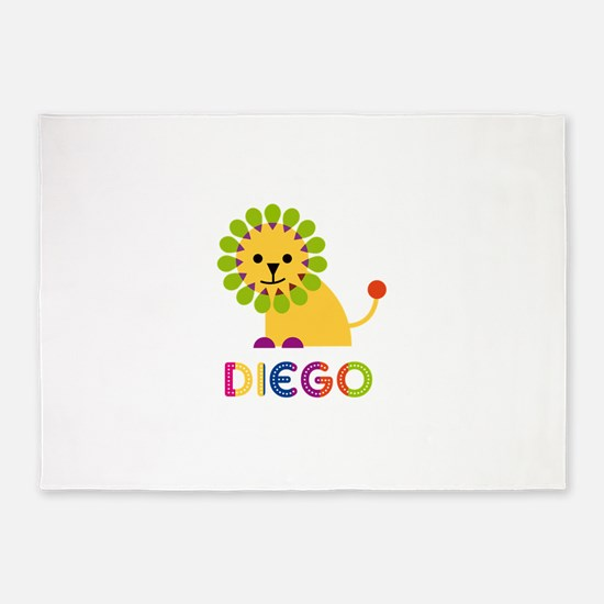Diego Loves Lions 5'x7'Area Rug