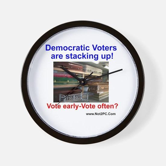 vote often Wall Clock
