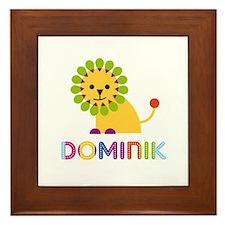 Dominik Loves Lions Framed Tile
