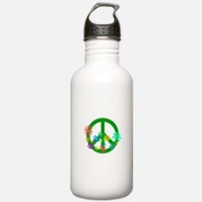 Blooming Peace Sign Water Bottle