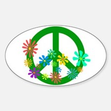 Blooming Peace Sign Decal