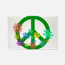 Blooming Peace Sign Rectangle Magnet (100 pack)