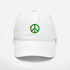 Blooming Peace Sign Baseball Baseball Baseball Cap