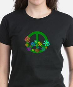 Blooming Peace Sign T-Shirt