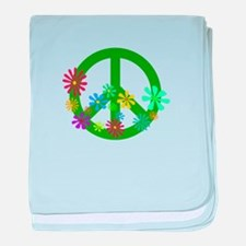 Blooming Peace Sign baby blanket