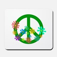 Blooming Peace Sign Mousepad