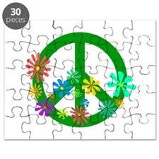 Blooming Peace Sign Puzzle