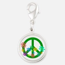 Blooming Peace Sign Charms