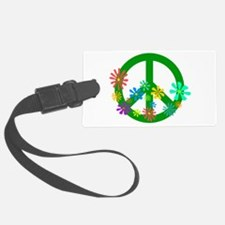 Blooming Peace Sign Luggage Tag