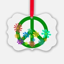 Blooming Peace Sign Ornament