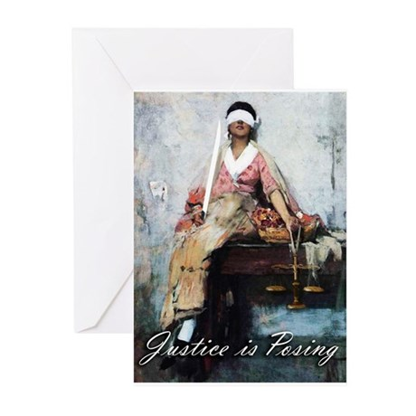 Justice is Posing 2 Greeting Cards (Pk of 10)