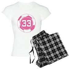 Soccer Number 33 Custom Player Pajamas
