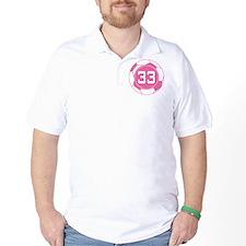 Soccer Number 33 Custom Player T-Shirt