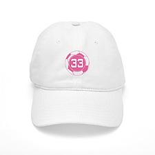 Soccer Number 33 Custom Player Baseball Cap