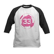 Soccer Number 33 Custom Player Tee