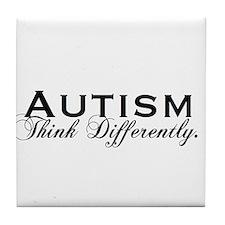 Autism Think Tile Coaster