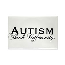 Autism Think Rectangle Magnet