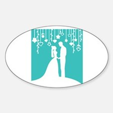 Bride and Groom silhouettes Decal