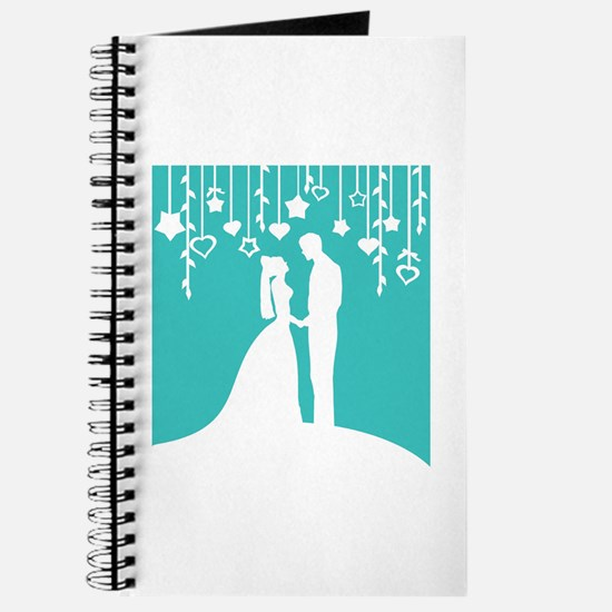 Bride and Groom silhouettes Journal