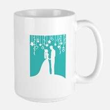 Bride and Groom silhouettes Mug