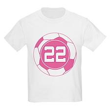 Soccer Number 22 Custom Player T-Shirt