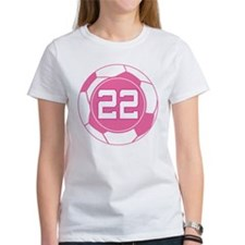 Soccer Number 22 Custom Player Tee