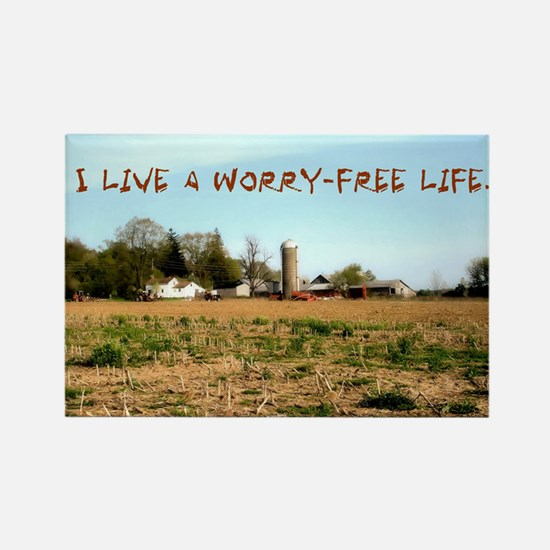Worry-Free Life Rectangle Magnet