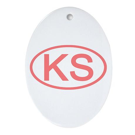 KS Oval - Kansas Oval Ornament