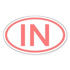 IN Oval - Indiana Oval Decal