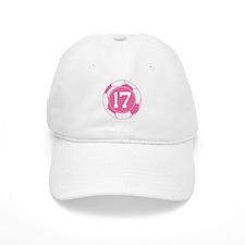 Soccer Number 17 Custom Player Baseball Cap
