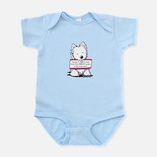 Vital Signs Westie: Sharp Infant Bodysuit