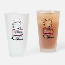 Vital Signs Westie: Sharp Drinking Glass