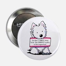 "Vital Signs Westie: Sharp 2.25"" Button"