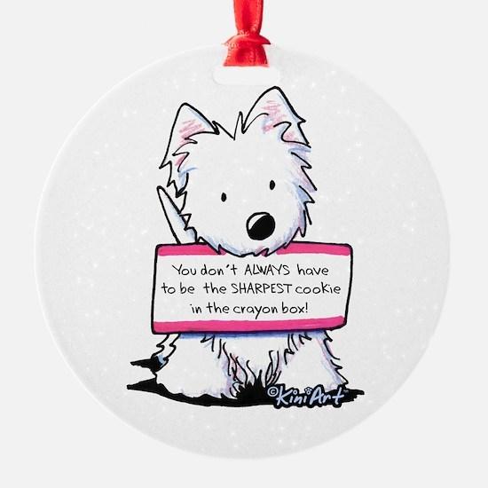 Vital Signs Westie: Sharp Ornament