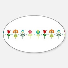 Retro folk floral line Decal