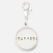Retro folk floral line Charms