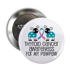 """Thyroid Cancer Support PawPaw 2.25"""" Button"""