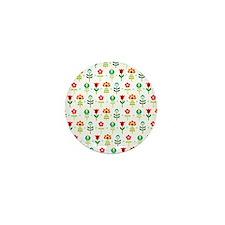 Retro folk floral pattern Mini Button (10 pack)