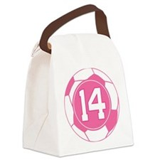 Soccer Number 14 Custom Player Canvas Lunch Bag