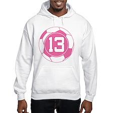 Soccer Number 13 Custom Player Hoodie