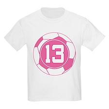 Soccer Number 13 Custom Player T-Shirt