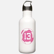 Soccer Number 13 Custom Player Water Bottle