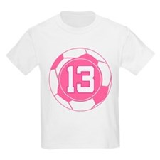 Soccer Number 13 Custom Player T-Shirt