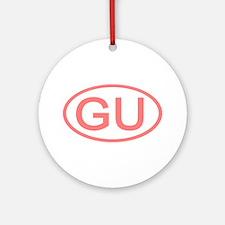 GU Oval - Guam Ornament (Round)