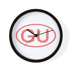GU Oval - Guam Wall Clock