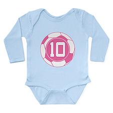 Soccer Number 10 Custom Player Long Sleeve Infant