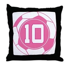 Soccer Number 10 Custom Player Throw Pillow