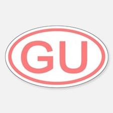 GU Oval - Guam Oval Decal
