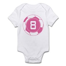 Soccer Number 8 Custom Player Infant Bodysuit